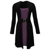 BODYFLIRT Kemerli örgü elbise - Siyah 97813895 4894025179942