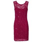 BODYFLIRT Üst kısmı dantelli elbise - Lila 91883895