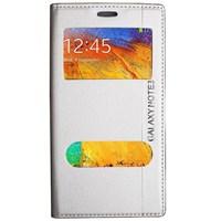 Magnum Galaxy Note 3 Magnum Pencereli Kılıf Beyaz MGSBGHNRT67