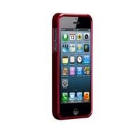 Casemate Glimmer Sert iPhone 5 Kılıfı + Ekran Koruyucu Film (Kırmızı)