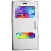 Magnum Galaxy S5 Mini Magnum Pencereli Kılıf Beyaz MGSADEHPQS7