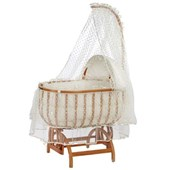 Baby Tech 122 Saraylı Fantezi Ahşap Bebek Beşiği Naturel 25197456