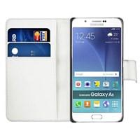 Microsonic Samsung Galaxy A8 Kılıf Cüzdanlı Deri Beyaz