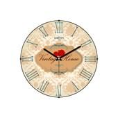 Cadran Luxury Vintage Home Bombeli Cam Duvar Saati Retro Motifler-16 32762420