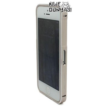 İphone 5s Kılıf Mıknatıslı Metal Bumper Çerçeve Altın