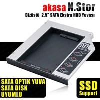 Akasa N.Stor Notebook Slim SATA Optik Sürücü Uyumlu HDD Kutusu