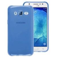 Microsonic Samsung Galaxy J7 Kılıf Transparent Soft Mavi