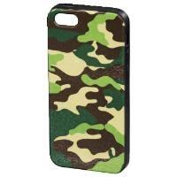 MM 122831 iPhone 5/5s Kamuflaj Yeşil/Siyah Koruyucu Kılıf