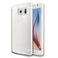 Microsonic Hybrid Transparant Samsung Galaxy S6 Kılıf Beyaz