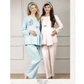 Haluk Baha Lohusa 2'Li Pijama Takım Turkuaz M 30110189