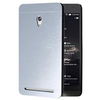Microsonic Asus Zenfone 6 Kılıf Hybrid Metal Gümüş