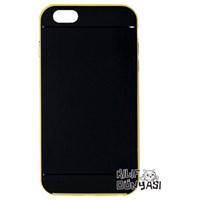 iPhone 6 Plus 5.5 Kılıf Silikon Renkli Çerveçeli Sarı