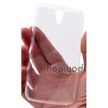 HTC Desire 620 Kılıf 0.2mm Şeffaf Silikon Kapak Renksiz