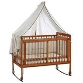 Baby Tech 202 Vezir 60x120 Ahşap Bebek Beşiği Naturel 24530886