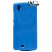 General Mobile Discovery 2 Mini Kılıf Süper Silikon Kapak Mavi
