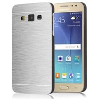 Microsonic Samsung Galaxy J2 Kılıf Hybrid Metal Gümüş