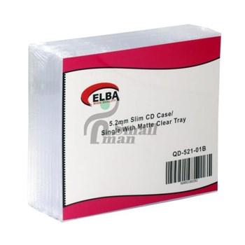 ELBA QD-521.01B 1Lİ Şeffaf 5,2mm Slim CD Case