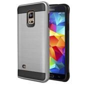 Microsonic Samsung Galaxy S5 Kılıf Slim Heavy Duty Gümüş CS300-SHD-GLX-S5-GMS
