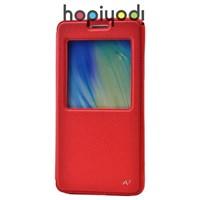 Samsung Galaxy A7 Kılıf Ekol Gizli Mıknatıslı Standlı Kırmızı