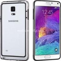 Hybrid Transparant Samsung Galaxy Note 4 Kılıf Siyah