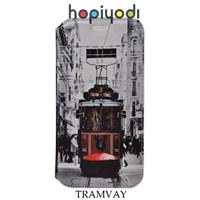 Turkcell T60 Kılıf Tramvay Desenli Mıknatıslı Standlı