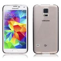 Microsonic Transparent Soft Samsung Galaxy S5 Kılıf Siyah