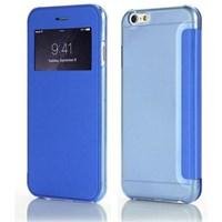 Microsonic View Cover Delux Kapaklı Iphone 6 (4.7'') Kılıf Mavi