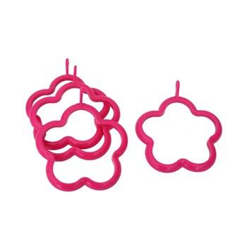 Tantitoni Silikon Pembe Çiçek Şekilli Dörtlü Yumurta Şekillendirici