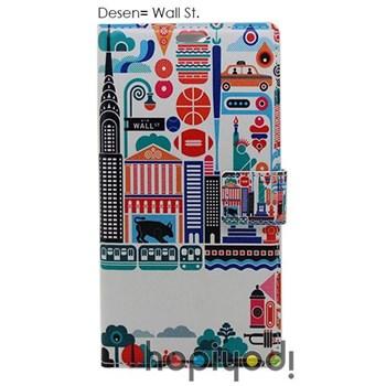 Samsung Galaxy Grand Kılıf BHR Wall St Desenli Kapaklı Cüzdan
