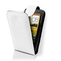 Microsonic Cs150 Flip Leather Deri Kılıf - Htc One V Beyaz