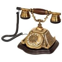 Anna Bell Piramit Pirinç Eskitme Klasik Telefon