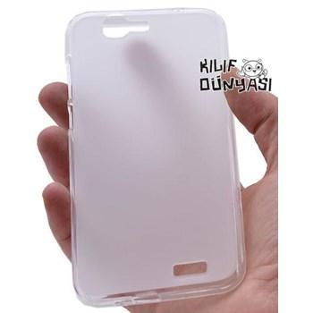 Huawei Ascend G7 Kılıf Süper Silikon Arka Kapak Renksiz