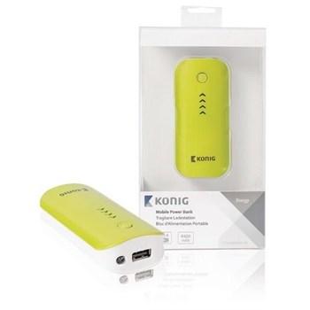 König Cs4400pb001gr Power Bank 4400 Mah Taşınabilir Batarya Sarı