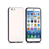 Cesim Leatherette Silikon iPhone 6 Kılıf Beyaz