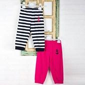 Wonder Kids Marine Yazlık Bebek Penye Pantolon 2li Pembe-Siyah 0-3 Ay (56-62 Cm) 33443756