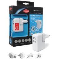 Xtras 1000 636.0 Değiştirilebilir Fiş ve 2 USB Çıkışlı iPod Şarj Cihazı