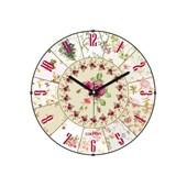 Cadran Luxury Vintage Bombeli Cam Duvar Saati Çiçek Dilimleri-2 32762541