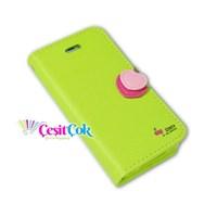 iPhone 4/4S Kılıf Kirazlı Kapaklı Yeşil