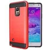 Microsonic Samsung Galaxy Note 4 Kılıf Slim Heavy Duty Kırmızı CS300-SHD-GLX-NOTE4-KRZ