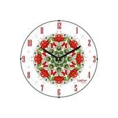 Cadran Luxury Bombeli Cam Duvar Saati Ukrayna Deseni-2 32754686