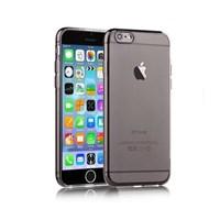 Microsonic Slim Transparent Soft iPhone 6 Plus (5.5'') kılıf Siyah