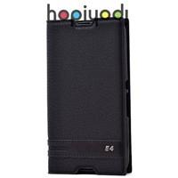 Sony Xperia E4g Kılıf Elite Kapaklı Gizli Mıknatıslı Siyah