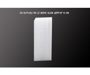 Elba 50li Mini Slim Şeffaf 8cm Cd Kutusu