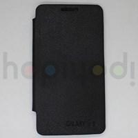 Samsung Galaxy S2 i9100 Kılıf Flip Cover Siyah