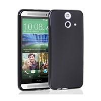Microsonic Transparent Soft HTC One E8 Kılıf Siyah