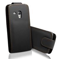 Microsonic Cs150 Flip Leather Deri Kılıf - Samsung Galaxy S3 Mini I8190 Siyah