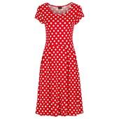 BODYFLIRT Penye elbise - Kırmızı 20083876