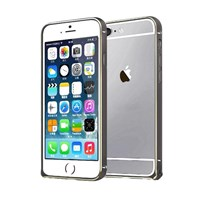 Microsonic iPhone 6 Plus (5.5'') Ultra Thin Metal Bumper Kılıf Black & Gold