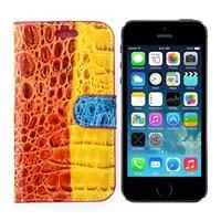crocodile iPhone 5S Standlı Kırmızı Kılıf MGSGKUXY359