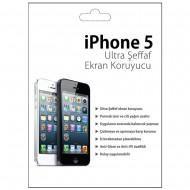 Iphone 5 Ultra Şeffaf Ekran Koruyucu